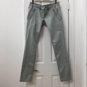 Diesel light gray low-rise straight leg pants